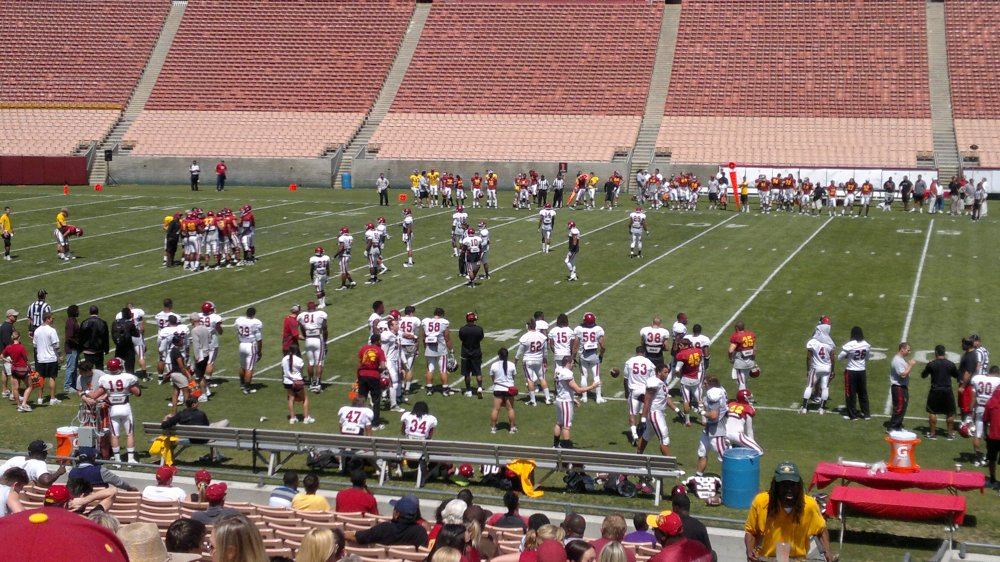 In case you're checking, yes, this isn't a recent photo. They didn't let us take pictures so this is from a 2012 spring practice.